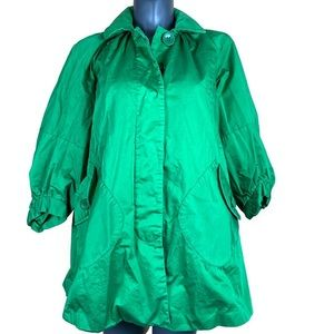 French Connection Coat Kelly Green Spring Size 2
